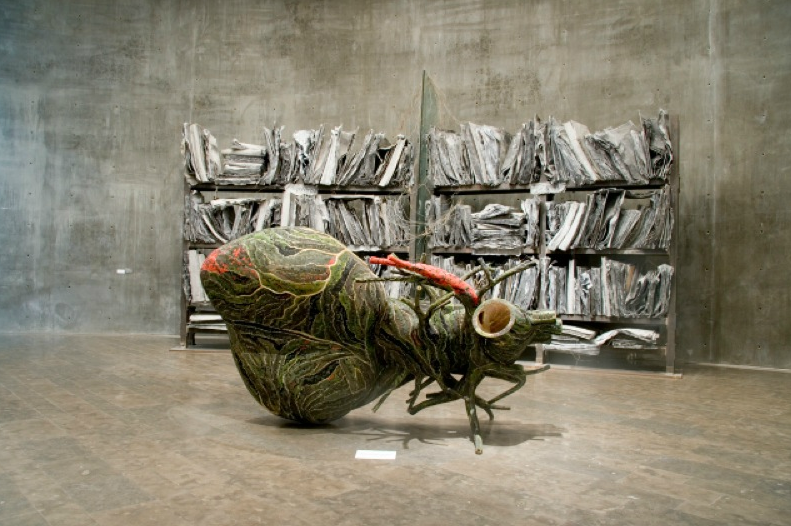 Bharti Kher, View of Indian Highway, 2009, at Astrup Fearnley Museet, Oslo, Norway