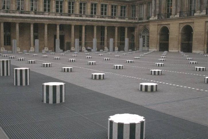 Daniel Buren, Columns of the Palais Royal, 1986, Paris, France