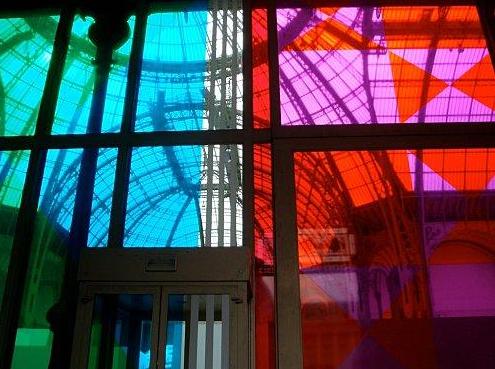 Daniel Buren, Power of Art, 2009, ephemeral window