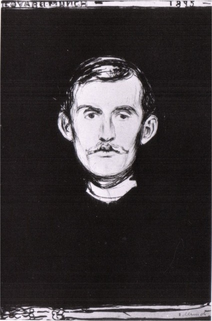 Edvard Munch - Self-Portrait with Skeleton Arm