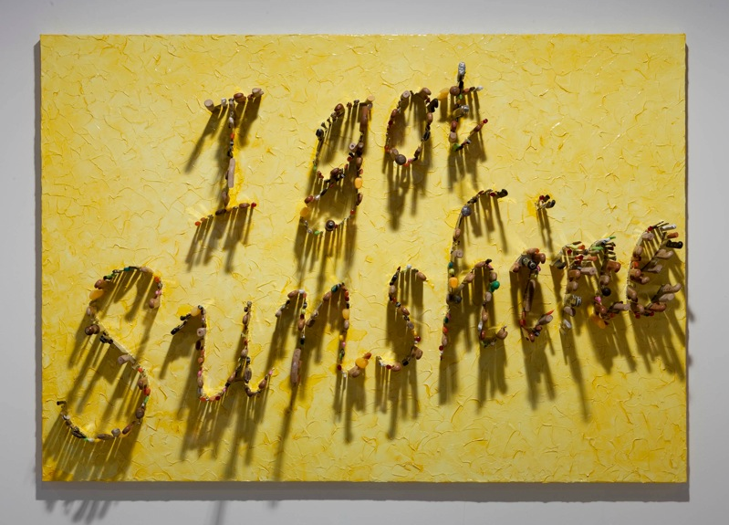 Farhard Moshiri, I Got Sunshine, 2011, knives on canvas, 172 x 250 cm