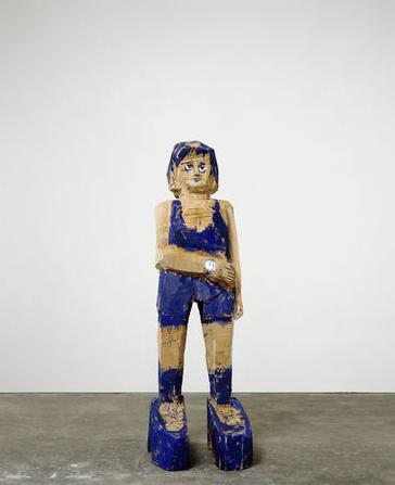Georg Baselitz, Frau Ultramarin, 2004