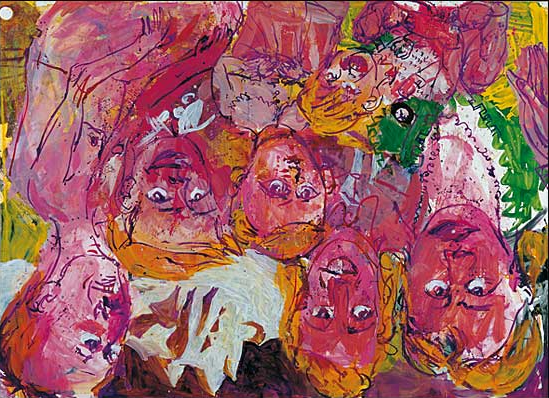Georg Baselitz, We Visit the Rhine I, 1996
