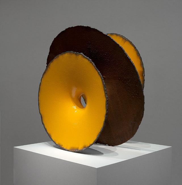 James Angus, Cast Iron Inversion, 2012, Cast iron, enamel paint, 80 x 80 x 50 cm
