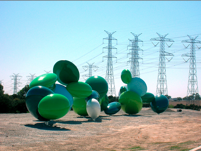 James Angus, Ellipsoidal Freeway Sculpture, 2008