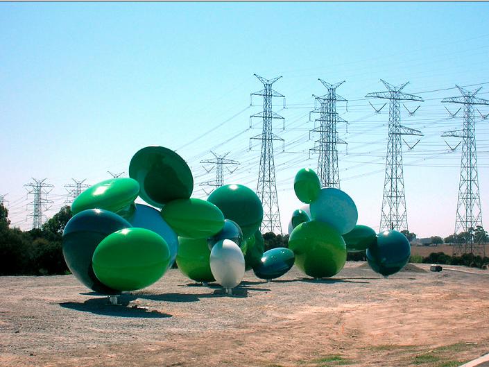 James Angus, Ellipsoidal Freeway Sculpture, 2008