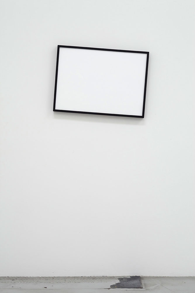 Jeppe Hein, Not Level, 2009, Wooden frame, weight, spring, 50 x 70 x 5 cm