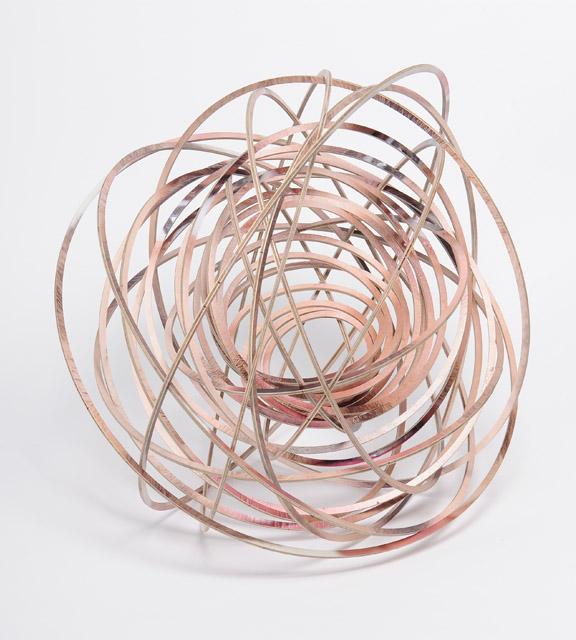 Justine Khamara, Orbital Spin Trick, 2013, UV print, laser-cut plywood, 50 x 50 cm