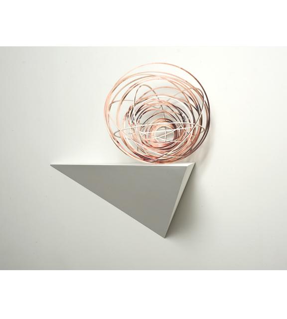 Justine Khamara, Orbital Spin Trick #5, 2013, UV print, laser-cut plywood, 50 x 50 cm