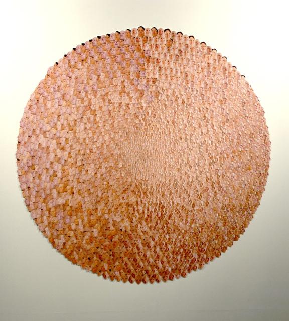 Justine Khamara, Seeded (Mum and Dad), 2006, Collaged colour photographs, 220 cm diameter