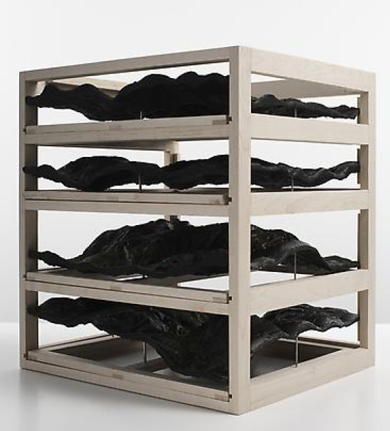 Katrín Sigurdardóttir, Untitled (drawer unit), 2009, Beechwood, resin, pigments, 48.3 x 76.2 x 86.4 cm (variable)