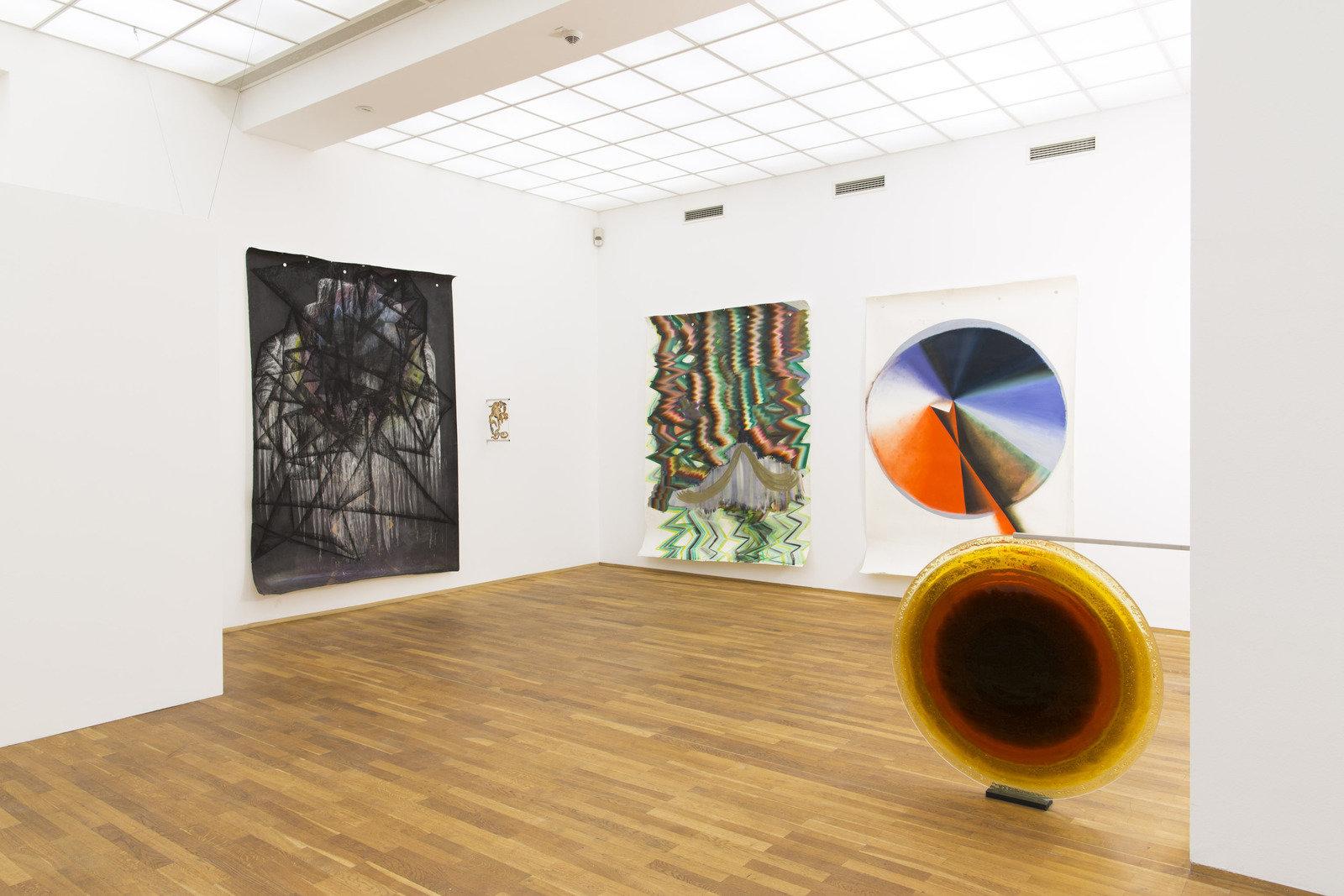 Kerstin Brätsch, Installation view Preis der Nationalgalerie Hamburger Bahnhof, Berlin, 2013