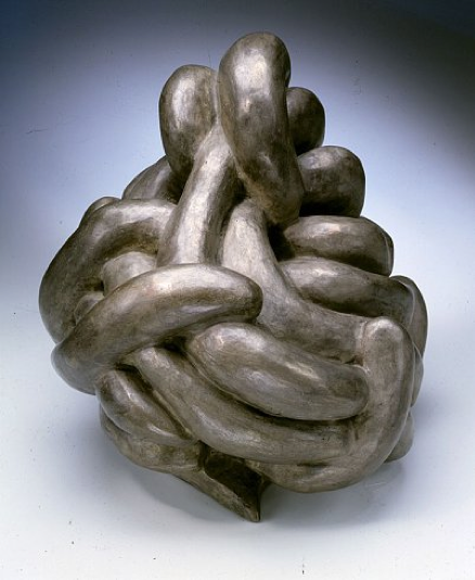 Louise Bourgeois, Clutching, 1962, Bronze, silver nitrate patina, 30.5 x 33 x 30.5 centimeters