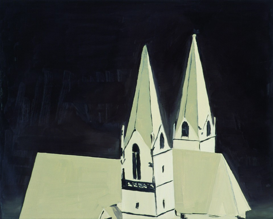 Luc Tuymans, Church, 1990, Oil on canvas, 51,5 x 64,5 cm