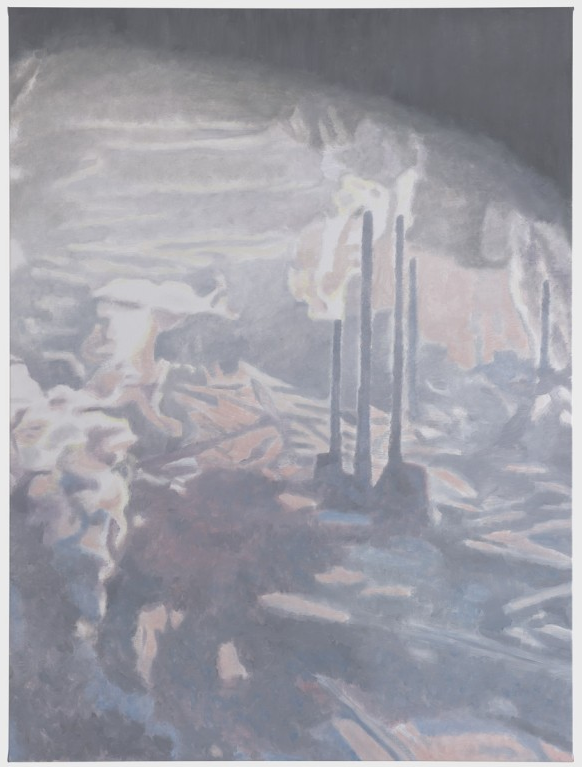 Luc Tuymans, Factory, 2010, OIl on canvas, 204,2 x 153 cm