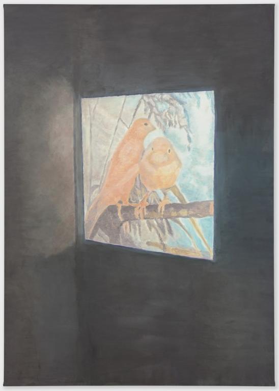 Luc Tuymans, The Couple, 2011, Oil on canvas, 222.3 x 158.1 cm