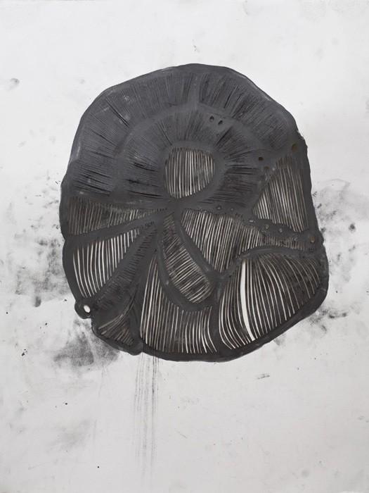 Mathilde Roussel, Incise#1, 2011, paper, graphite, 76x56cm