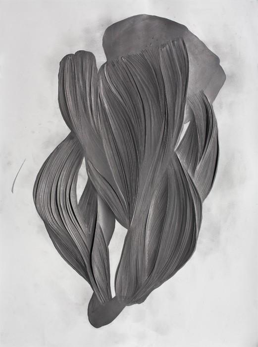 Mathilde Roussel, Incise#2, 2012, paper, graphite, 76x56cm