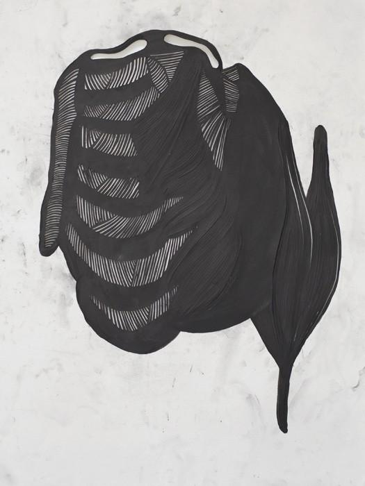 Mathilde Roussel, Incise#3, 2011, paper, graphite, 76x56cm