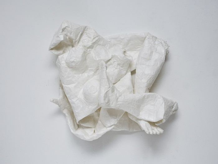Mathilde Roussel, Mue 2012 2012, paper, glue, 40x27 in