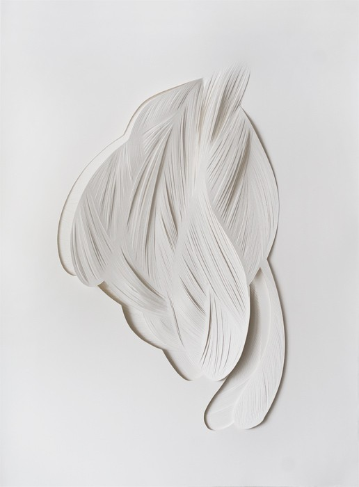 Mathilde Roussel, Nécessité#1, 2013, cut paper, 25x20 in