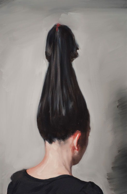 Michaël Borremans, The Pendant, 2009, oil on canvas