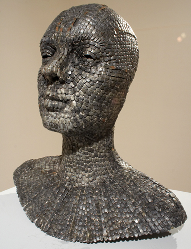 Sakshi Gupta, Everything is You, 2007, metal chips, approx. 70cm x 70cm x 180cm