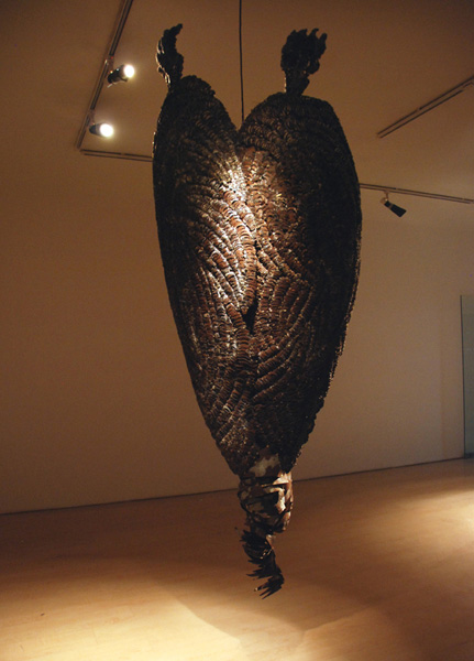 Sakshi Gupta, Untitled, 2009, metal scrap, 227.5cm x 88.5cm x 43cm