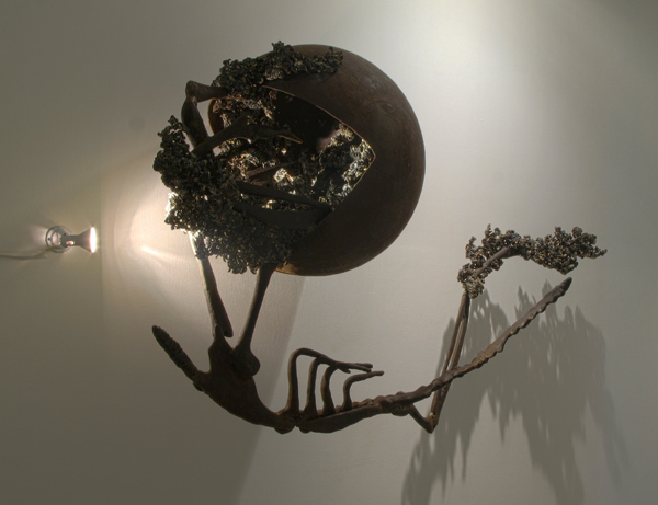 Sakshi Gupta, Untitled, 2010, iron scrap, cast iron, 162cm x 96cm x 66cm