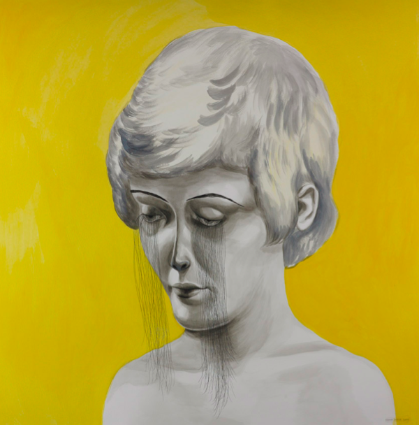 Shary Boyle, Vanity, 2009, gouache, ink and acrylic on paper, 110 x 100 cm