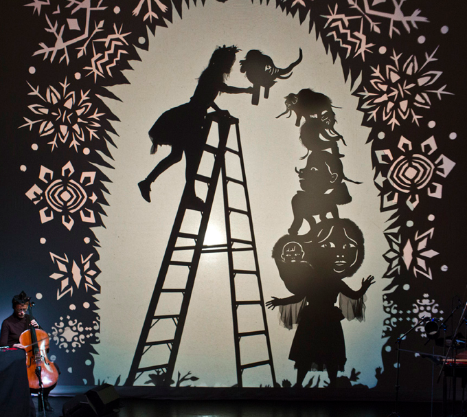 Shary Boyle and Christine Fellows, Everything Under the Moon (performance still), 2012, Presented at the Harbourfront Centre World Stage 2012, Toronto
