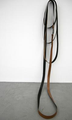 Shilpa Gupta, Untitled, 2009, 10 meters security belt