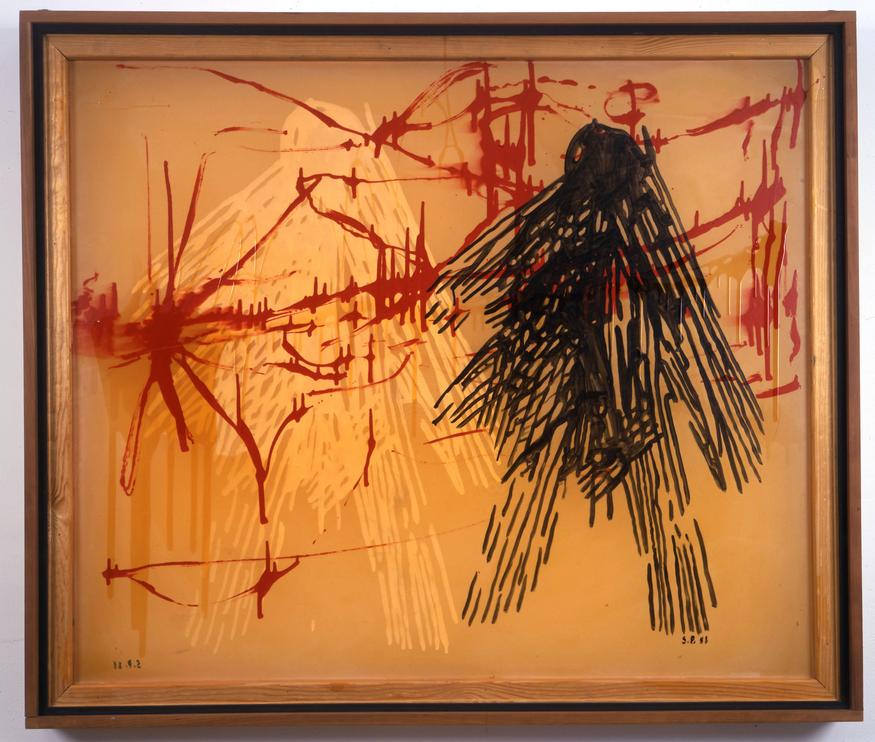 Sigmar Polke, Transparent Nr. 4, 1988, Acrylic on fabric, 110 x 130 cm