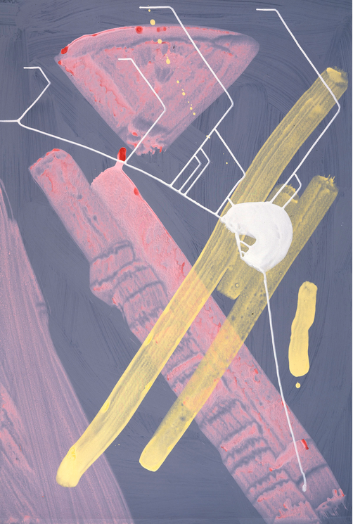 Sigmar Polke, Untitled, 1998- 99, Mixed media, 101 x 68 cm