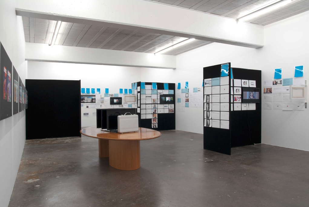 Simon Denny, Corporate Video Decisions, 2011, Installation at Michael Lett, Auckland