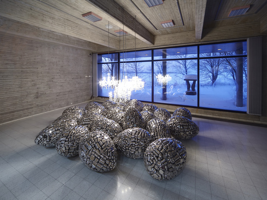 Subodh Gupta, Installation view, 2011, Sara Hildén Art Museum, Tampere, Finland