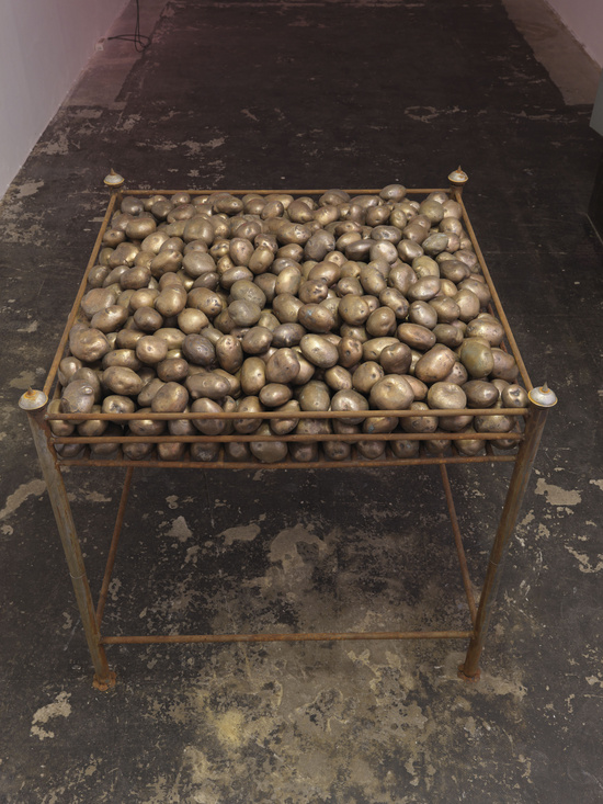 Subodh Gupta, Potato Ring, 2009, 