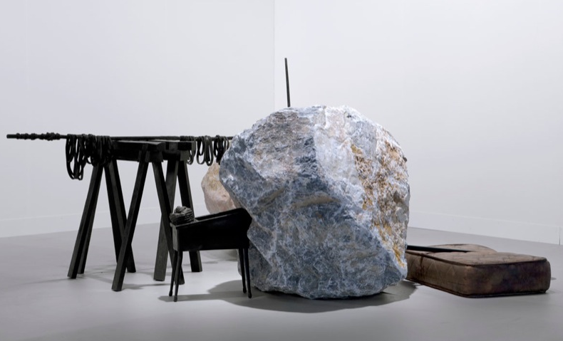 Tatiana Trouvé, Absorption, 2008-2010, stone, patina bronze, paint,
