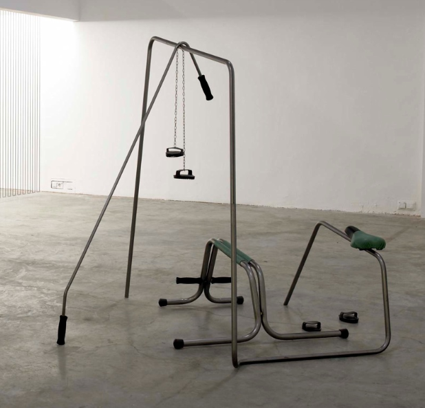 Tatiana Trouvé, Polder, 2006, metal, leather, plastic, wrought iron,