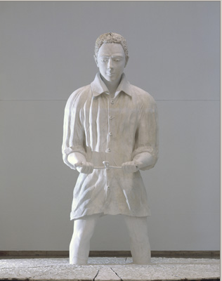 Thomas Schütte, Man in Mud - The Seeker 2009.