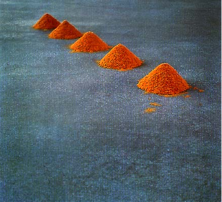 Wolfgang Laib, Five Mountains Not to Climb On, 1994