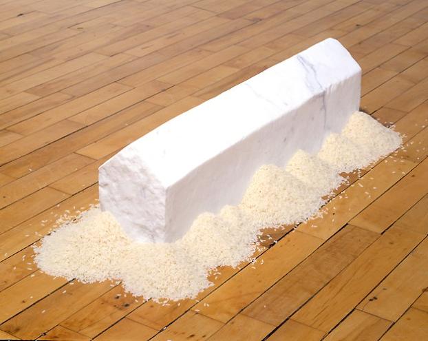 Wolfgang Laib, Rice House, 1990.