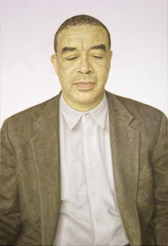 Y.Z. Kami, Untitled (Acharya), 2007, oil on linen, 355.6 x 177.8 cm