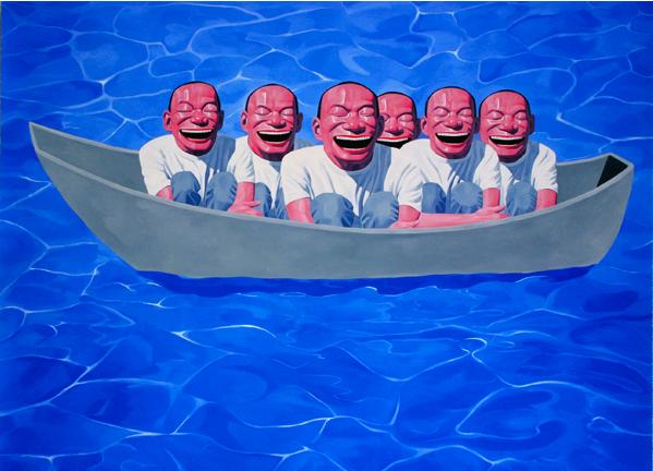 Yue Minjun, Noah's Ark, 2006
