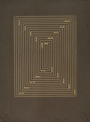 Zarina Hashmi, Golden Route, etching in gold ink on gray handmade paper, 76.2 x 57.2 cm