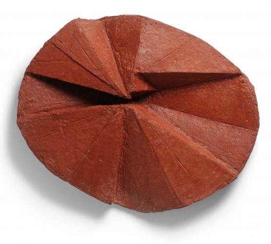 Zarina Hashmi, Lotus, paper casting, 58.4 x 73.7 x 12.7 cm