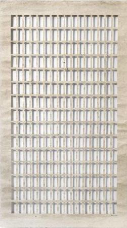Zarina Hashmi, Shadow House, Nepalese cut paper, 175.3 x 99.1 cm