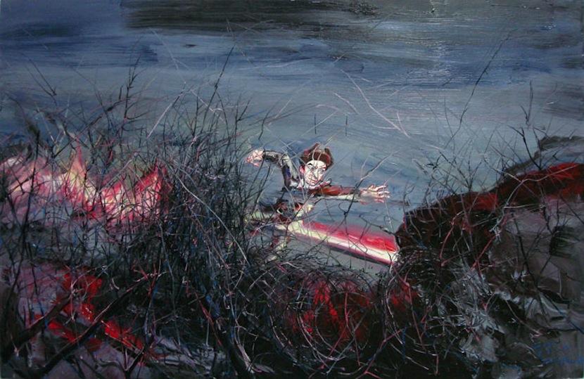 Zeng Fanzhi, Huang Jiguang, 2006, Oil on canvas, 215 x 330 cm