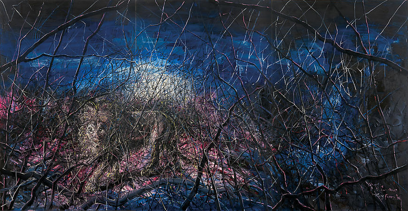 Zeng Fanzhi, Lion, 2008, Oil on canvas, 280 x 540 cm