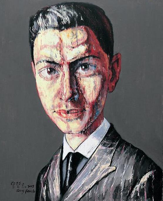 Zeng Fanzhi, Portrait 08-12-7, 2008, Oil on canvas, 45,5 x 37 cm